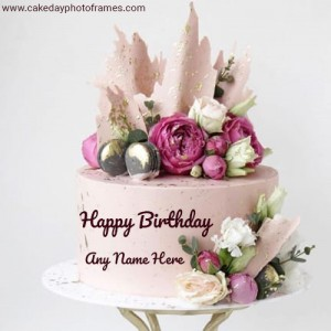Create Special Happy Birthday Cake Image with Name edit