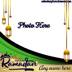 Ramadan Kareem Card with Name and Photoframe