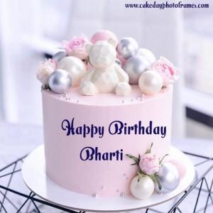 Birthday Cake With Name Bharti