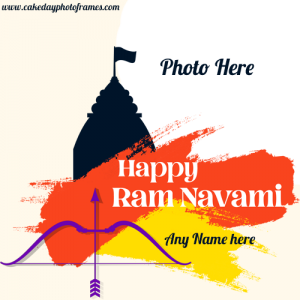 Create Happy Ram Navami Photo frame with Name