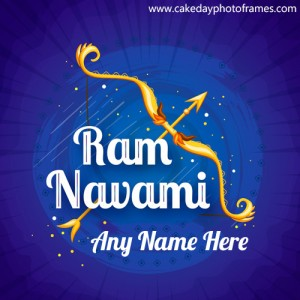 Best wishes for Ram Navmi with Name on Greetings
