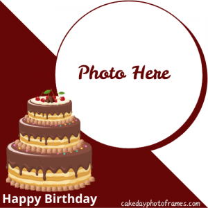 Created Happy Birthday wishes Cake with Photo
