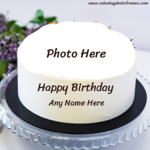 happy birthday cake with name and photo generator