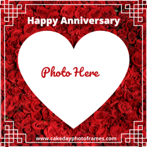 happy anniversary with photo edit