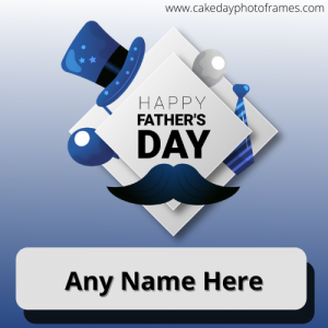 Happy Father's Day card with Name image