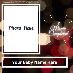 3 months complete photo frame with name cards