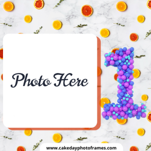 One Month Completed Baby Photo Frame Free Edit