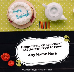 Greeting card happy birthday card with name and photo edit
