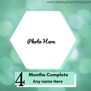Make Baby 4th Month Complete Photo Frame