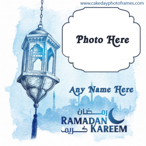 Ramadan kareem card with name and photo download free download