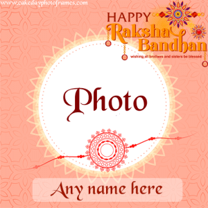Customized Happy Raksha Bandhan Card with Name And Photo