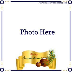 Happy Janmashtami Photo frame with your Picture