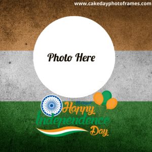 15th August independence day card with name and photo