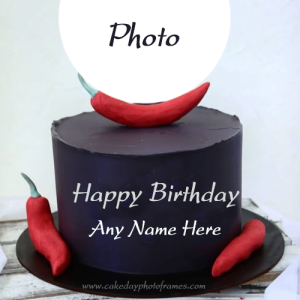 Beautiful Birthday cake with Name and Picture Edit