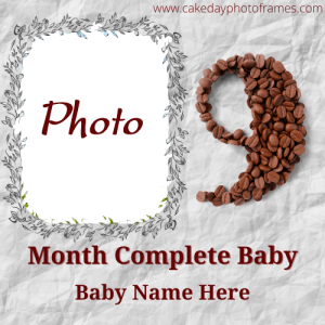 Special 9th months Completed Greetings Card with Name and photo