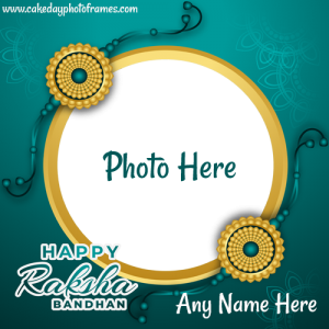 Happy Raksha bandhan wishing card with photo
