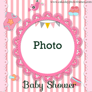 baby shower photo frame with couple photo Edit