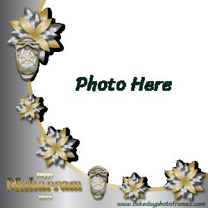happy muharram 1443 photo frame free editor