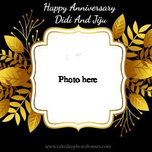 Happy anniversary didi and jiju card with photo
