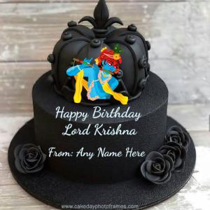 happy birthday Krishna cake with name pic free download