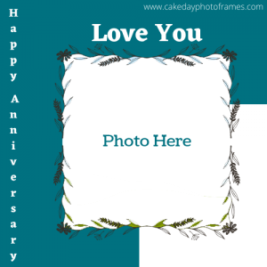 happy anniversary love you card with photo and name