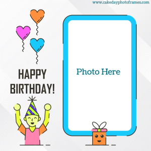 Happy birthday lovely child card with photo