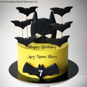 Birthday Cake with Name for 7 year old boy birthday Greeting
