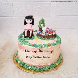 happy birthday princess cake with name free download