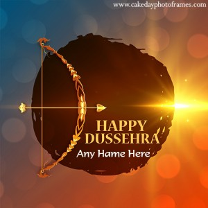 Make Happy Dussehra Card with Name Editor