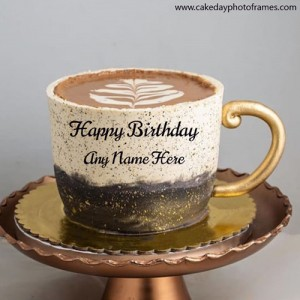 Make Special Happy Birthday Greeting for Coffee Lover