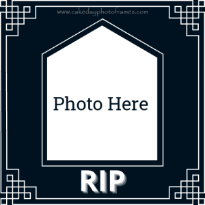 RIP card with photo frame