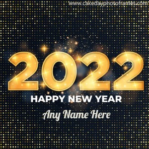Make Happy New Year 2022 Greeting Card with name