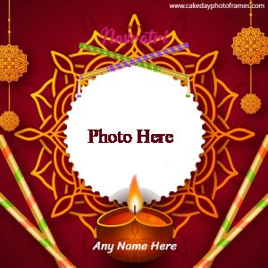 Happy navratri card with name photo edit