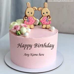 Make online Happy Birthday Cake with Name editor