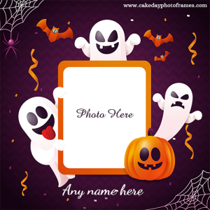 Happy Halloween Card with Name and Photo