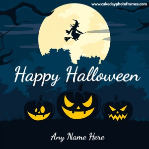 Make Personalized Happy Halloween wishes Card with Name