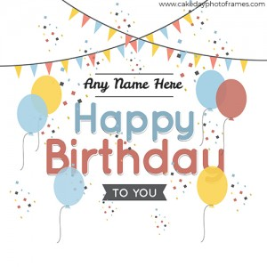 Happy birthday to you balloon card with name